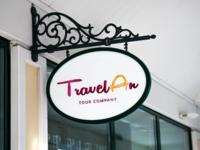 """TravelAn"" Logo Design for Tour Company"