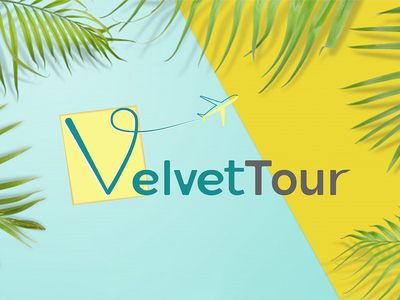 VelvetTpour Tourism Logo Concept art tourism colors adobe illustrator adobe photoshop graphic design logo 2d
