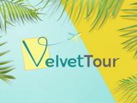 VelvetTpour Tourism Logo Concept