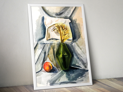 Still life watercolor illustration colors drawings color water art pencil painting