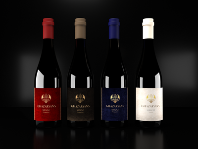 Ghazaryans Wine Branding Identity design graphic design color adobe illustrator adobe photoshop elegant colorful 3dsmax render illustrator old packaging wine brand design photoshop logo