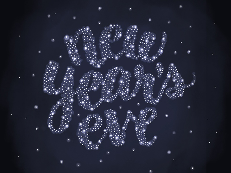 New Years Eve 2016 starry sky new years eve illustrative lettering typography digital lettering photoshop lettering