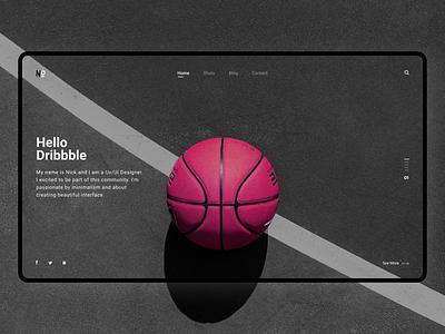 Hello, Dribbble! 1 Invite! minimalism invite dribbble invite giveaway minimal clean firstshot web web design design ux ui invite hello dribble