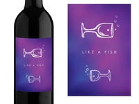 Like A Fish - Wine Label