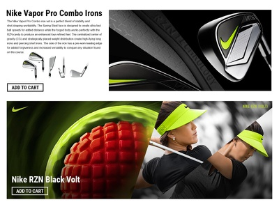 Nike Brand Page concept ecommerce web design