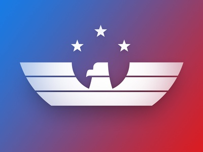 America eagle gradient logo