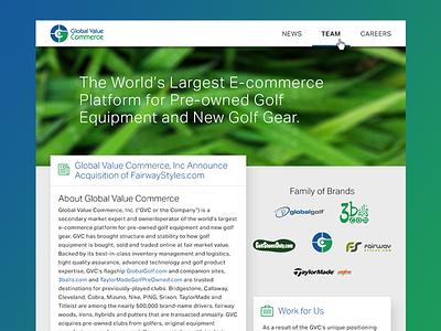 Homepage Concept design web