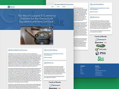 GVC.com homepage web design corporate