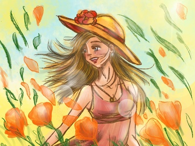 Sunny digitalart digital illustration digital art design illustration