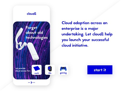 cloud 1 network net cloud web ui design blue application ui application app design app ux uiux ui