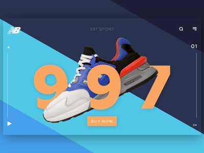New Balance 997 concept design fashion ecommerce webdesign web productdesign product grapgic design modern new balance newbalance ux uiux ui design ui sport