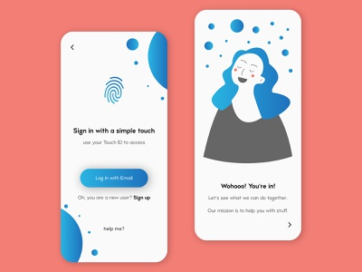 Login screen login blue vector gradient design application application ui concept concept design illustration app design app ux uiux ui design ui