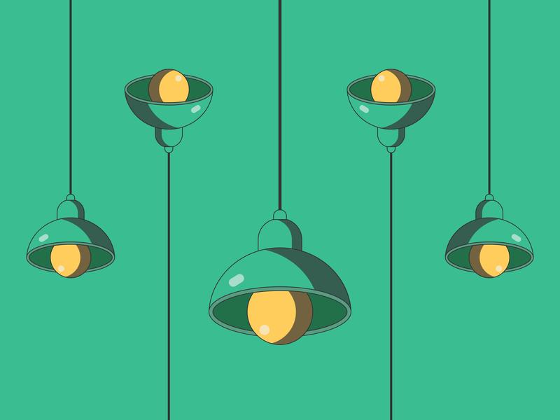 Lamp 2d art 2d ui blue green pattern drawing draw cartoon flat artwork art graphic design vector art lamp vector illustration