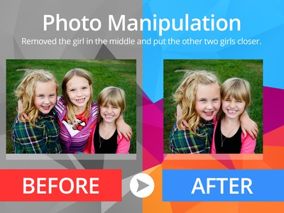 Photo Manipulation - Girl in the Middle Removed