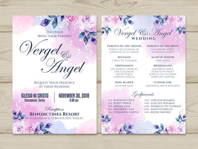 Invitation Design - Wedding