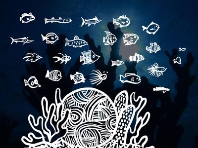 Fish / Coral Illustrations