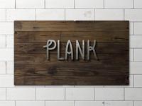 Plank mockup