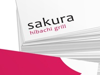Sakura Hibachi Grill Business Card