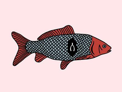 Fish–Bone procreate design illustration