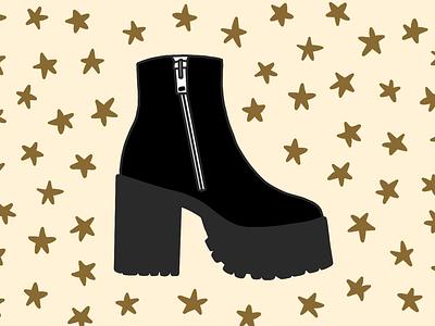 Bonnie Boot drawing procreate fashion illustration