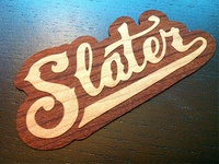 Slater Wood Stickers