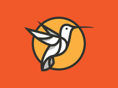 Humming Bird Mark humming hummingbird humming bird logo strokes