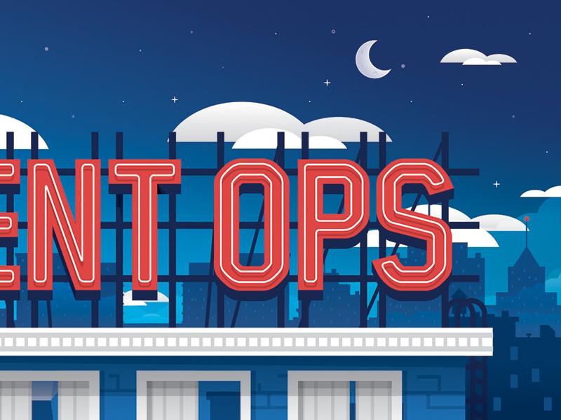 Events Blog illustration type city building