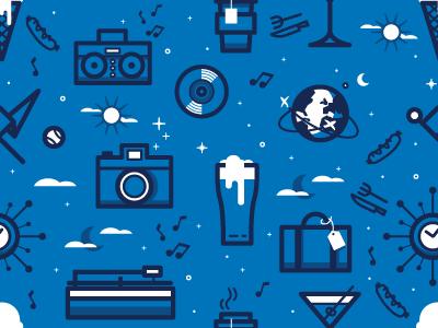 Event Patterns icons illustration pattern
