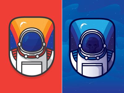 Astronaut  space mark badge nasa helmet skull