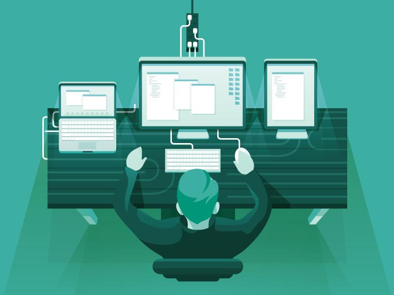 Computer Desk desk computer illustration