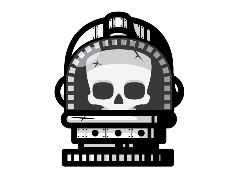 Dead Astronaut space skull dead illustration nasa helmet