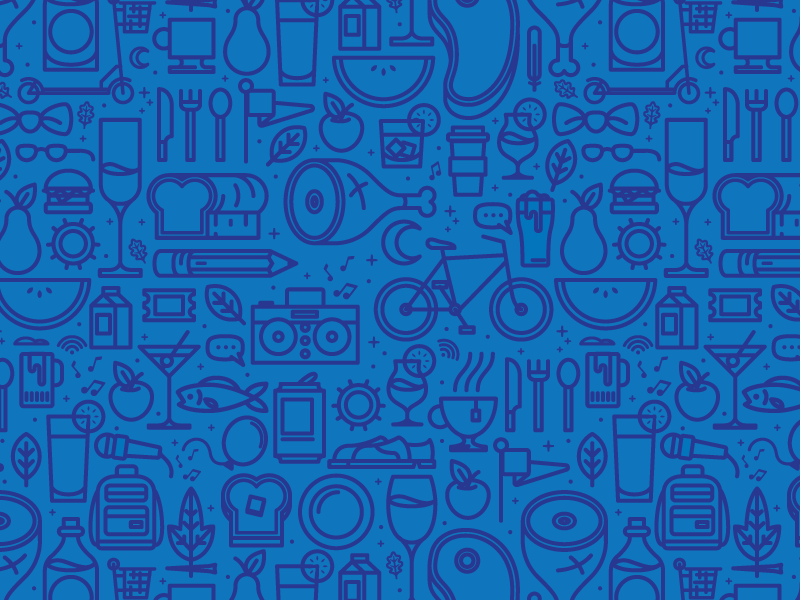 Icon Pattern pattern food icons illustration drinks events tech party leaf music meat