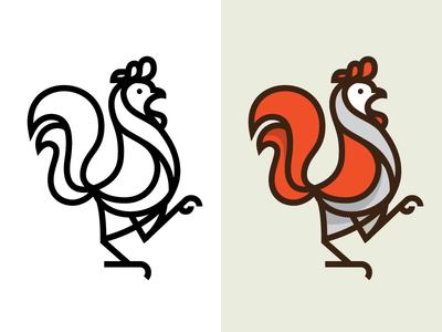 Rooster Mark mark logo illustration chicken rooster