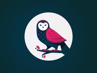 Owl illustration bird mark owl