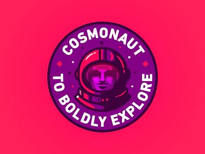 Astro Kid illustration icon delivery space badge space suit cosmonaut nasa astronaut
