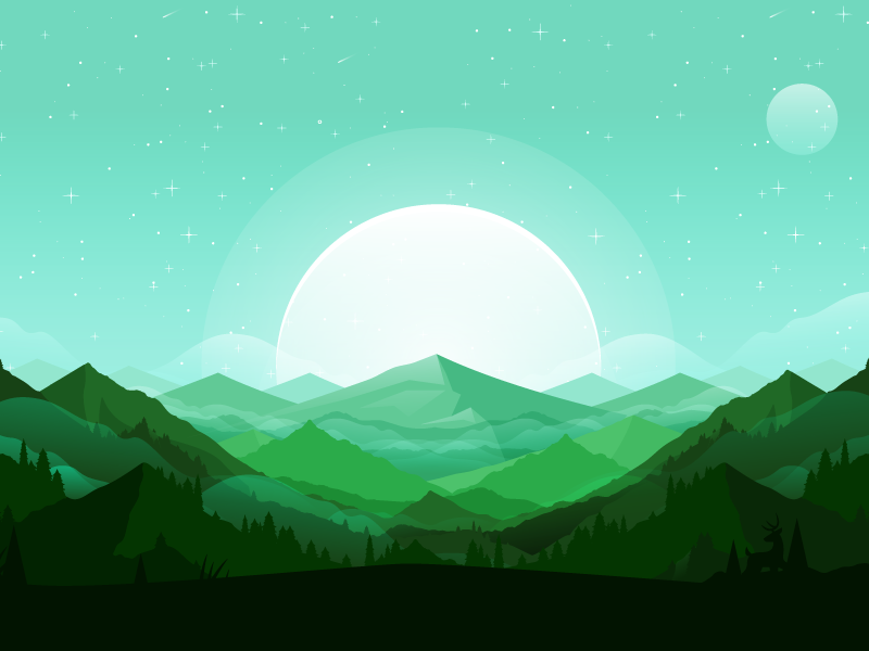 Mountains illustration mountains landscape
