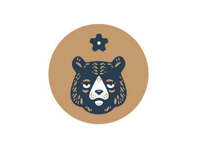 Bear Mark WIP beer new york patch badge bear mark brewery mountains logo hops