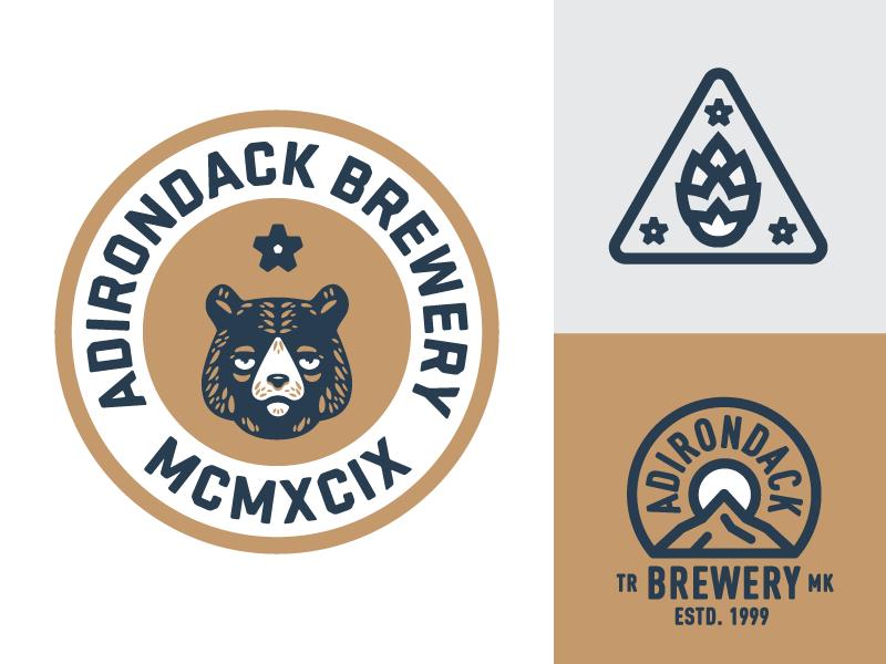 Drunk Bear beer new york patch badge bear mark brewery mountains logo hops