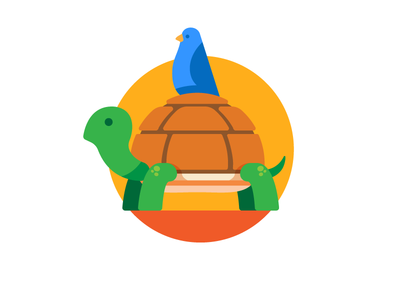 Turtle pet bird turtle illustration