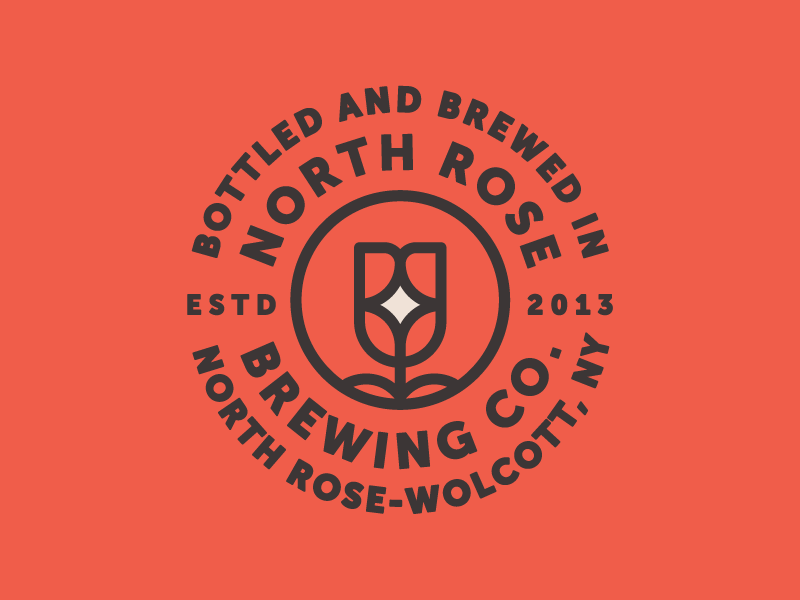 North Rose brewery rose mark logo badge