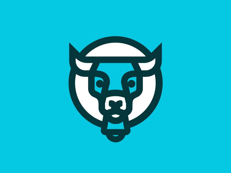 Babe bull cow bell brand milk logo mark