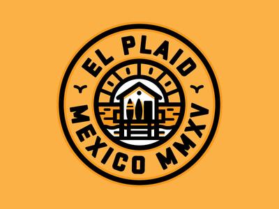 El Plaid logo mexico sun surfing badge