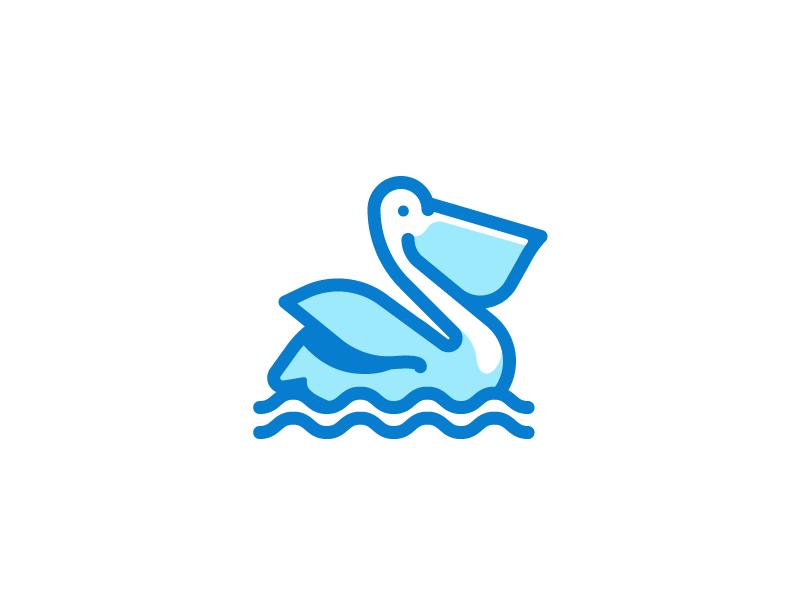 Pelican Mark line illustration logo mark pelican bird