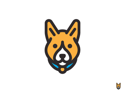 Thor logo pet mark corgi dog