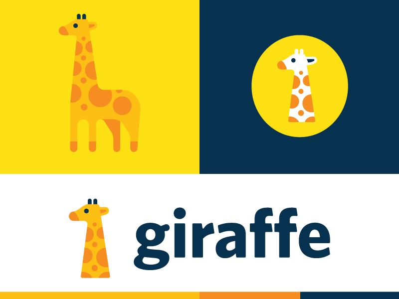 Giraffe brand type mark giraffe animal logo