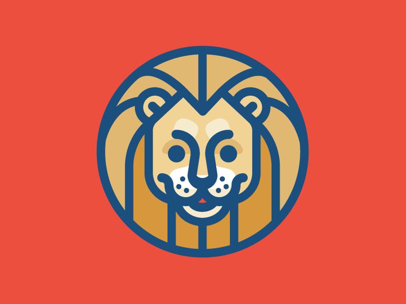Lion illustration cat big mark logo lion