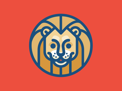Lion illustration cat big mark logo lion