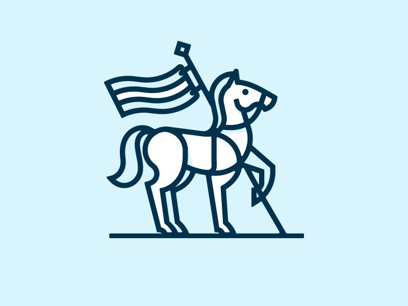 White Horse Tavern mark logo tavern flag horse