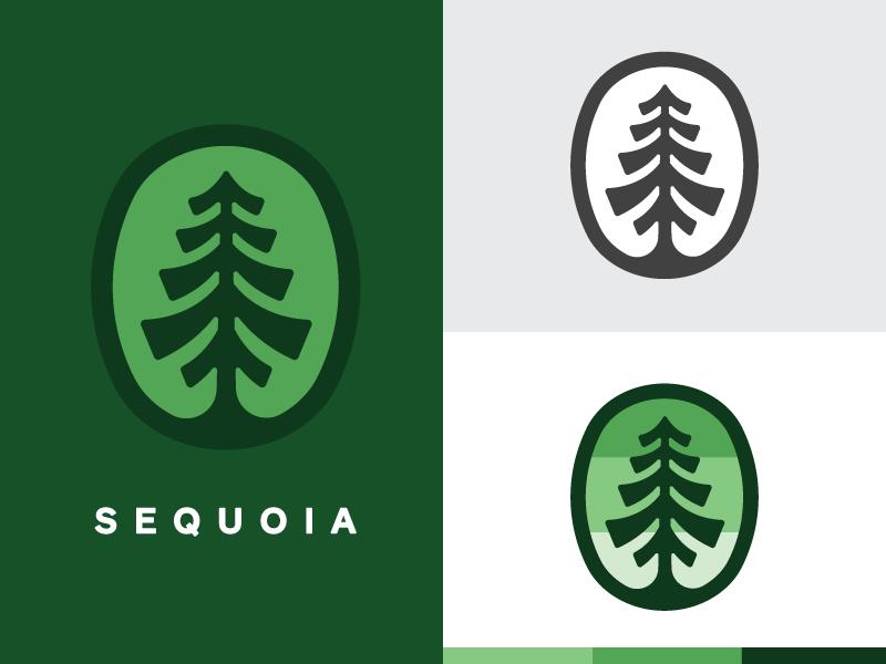 Sequoia mark branding tree logo