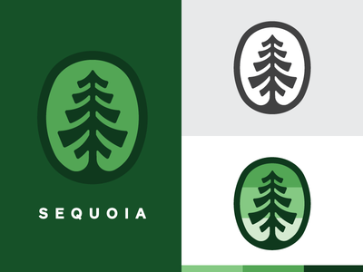 Sequoia mark branding tree logo